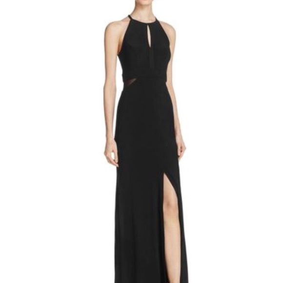Black Halter Prom Dress